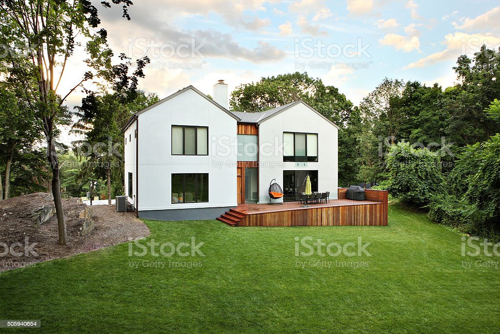 Modern residence stock photo