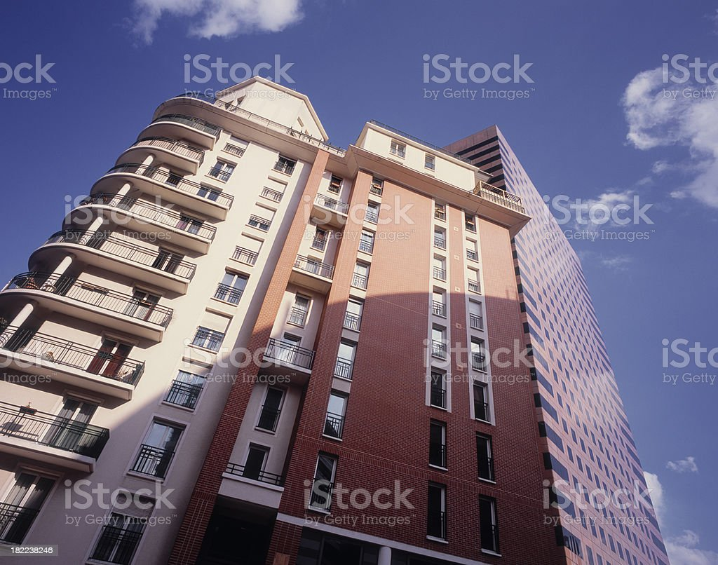 Modern residential and office building. royalty-free stock photo