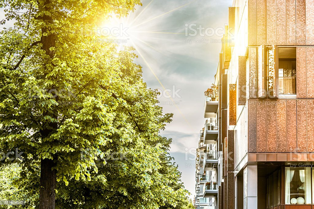 modern residential architecture in berlin stock photo