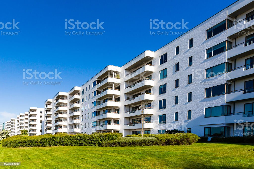 Modern residential building stock photo