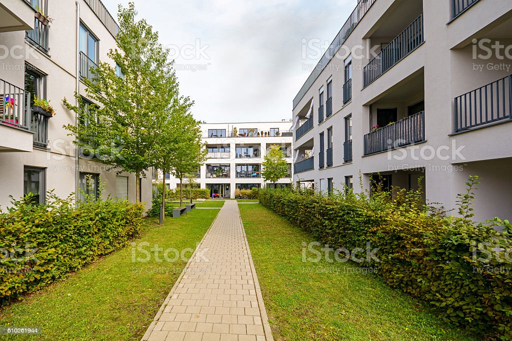 Modern residential buildings, apartments in a new urban housing stock photo