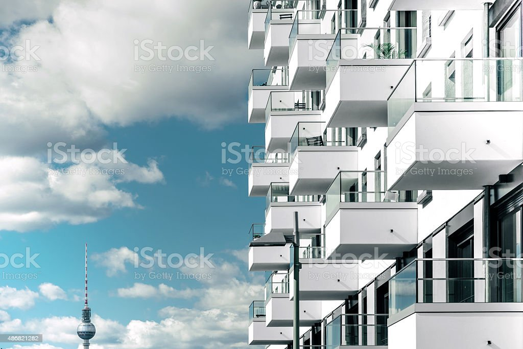 modern residential house in berlin stock photo