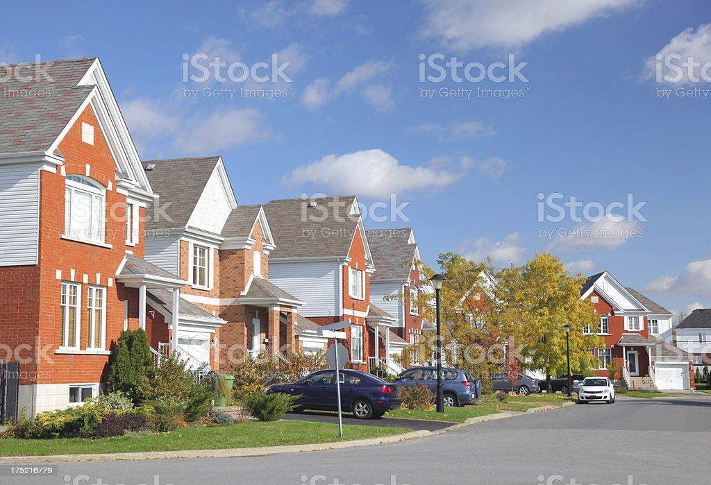 Modern Residential Neighborhood royalty-free stock photo