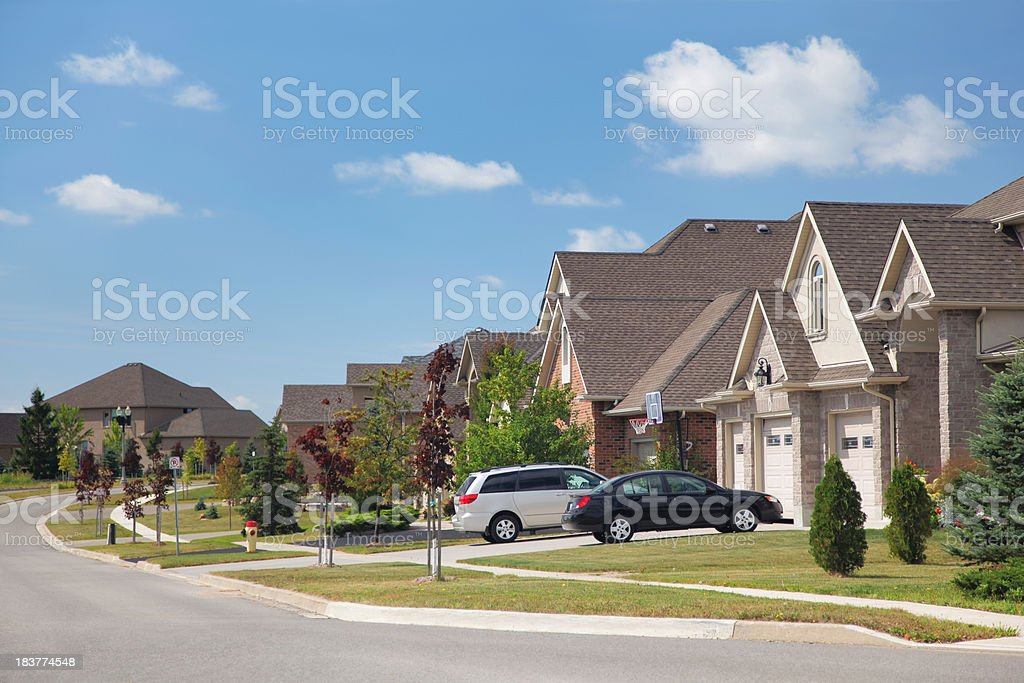 Modern Residential Urban Sprawl stock photo