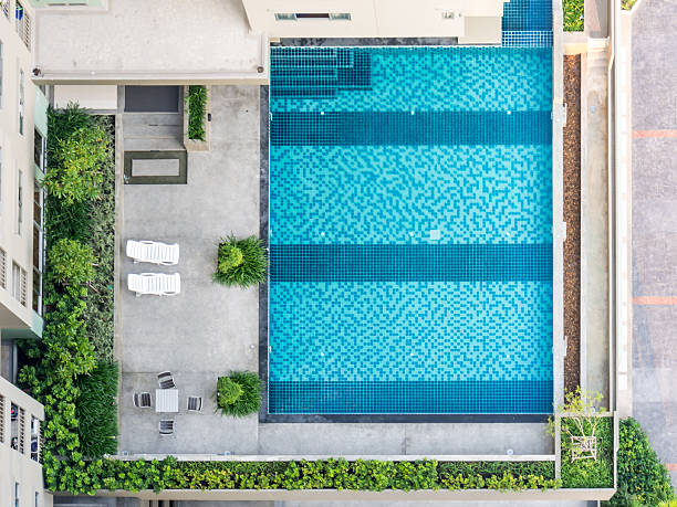 Swimming Pool Aerial Pictures Images And Stock Photos Istock