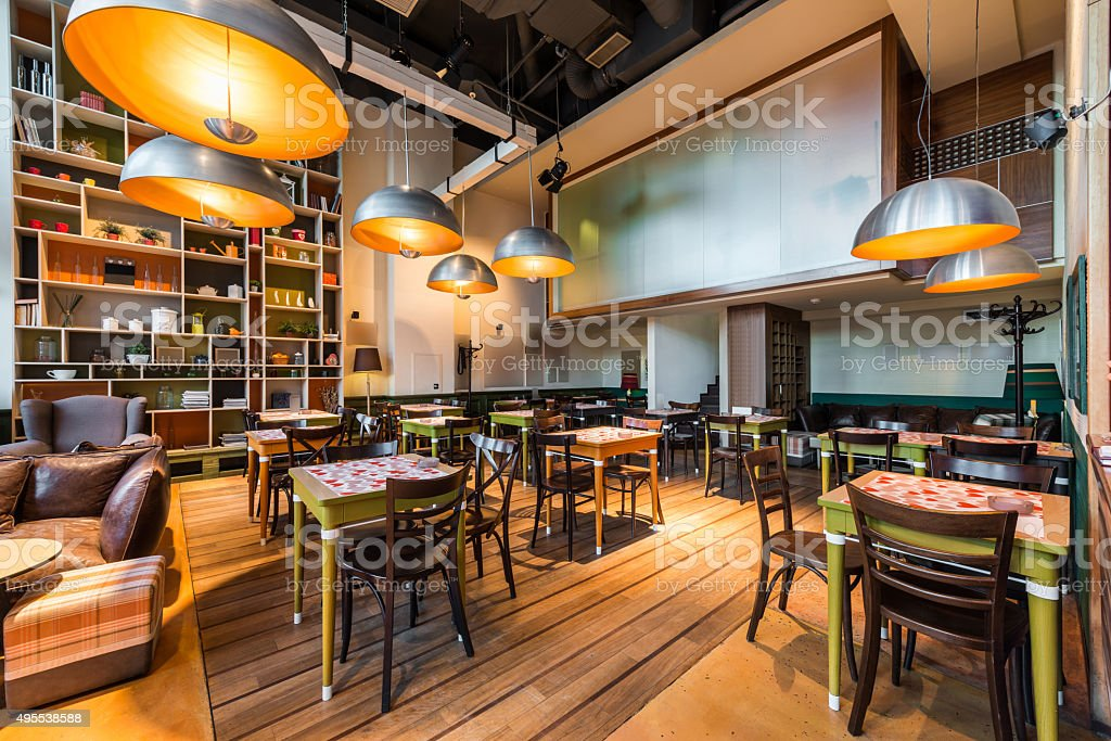 Modern restaurant stock photo