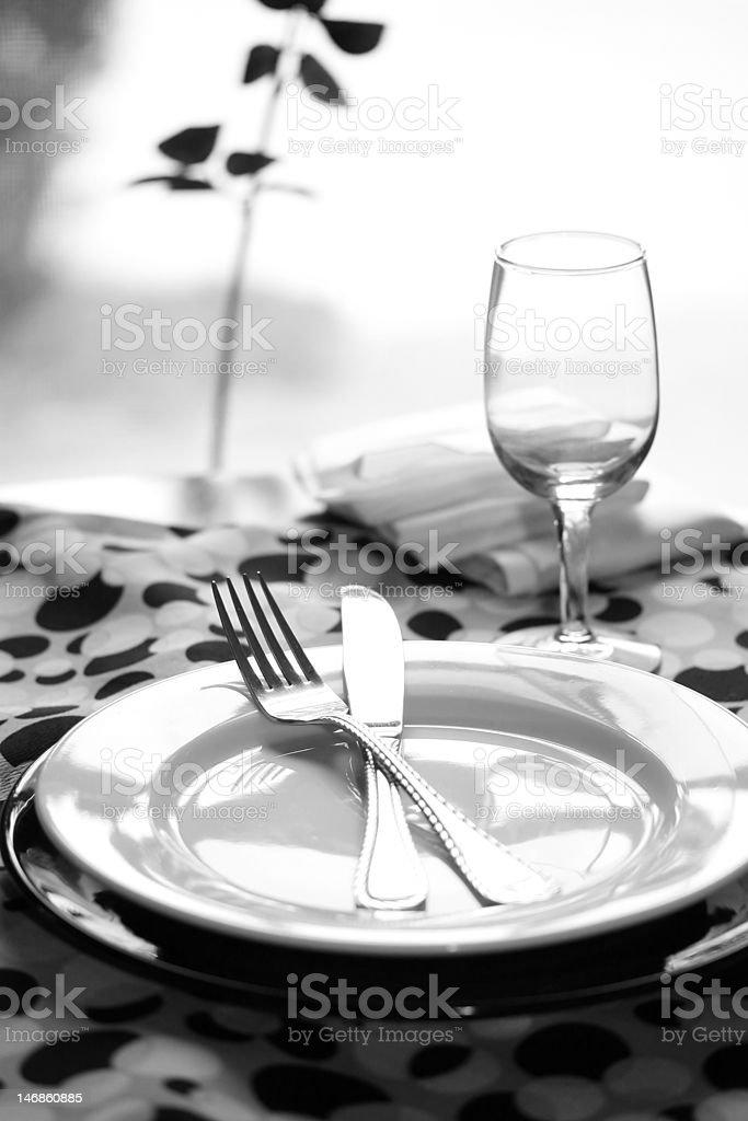 Modern Restaurant Table royalty-free stock photo