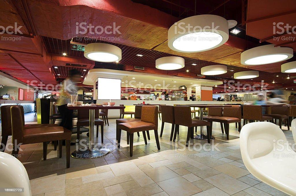 modern restaurant with open kitchen stock photo