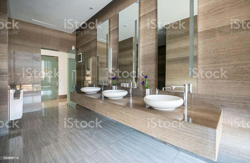Modern Restroom Sinks Royalty Free Stock Photo