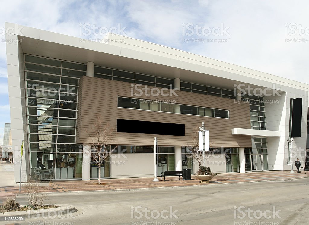 Modern Retail Building stock photo