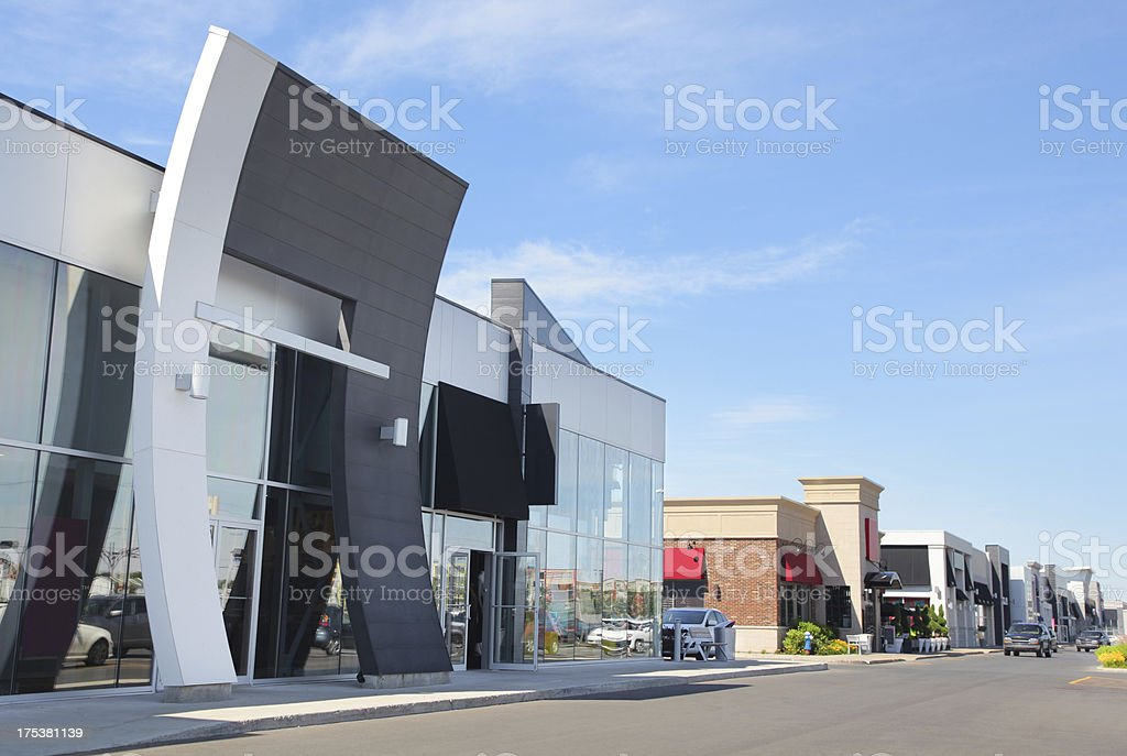 Modern Retail Store Buildings royalty-free stock photo