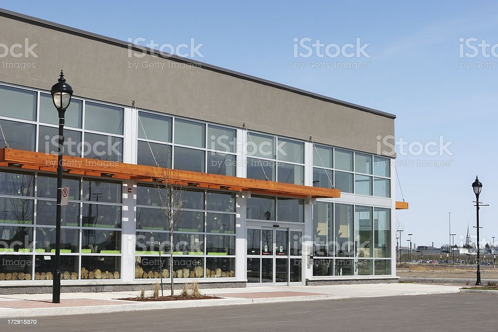 Modern Retailer Building Exterior royalty-free stock photo