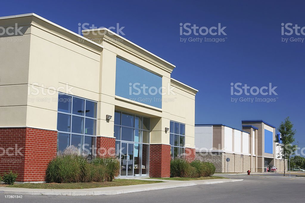 Modern Retailer Buildings stock photo