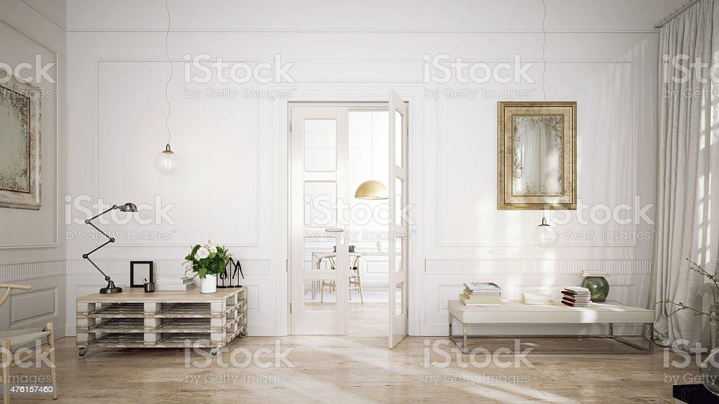 Modern retro style penthouse stock photo