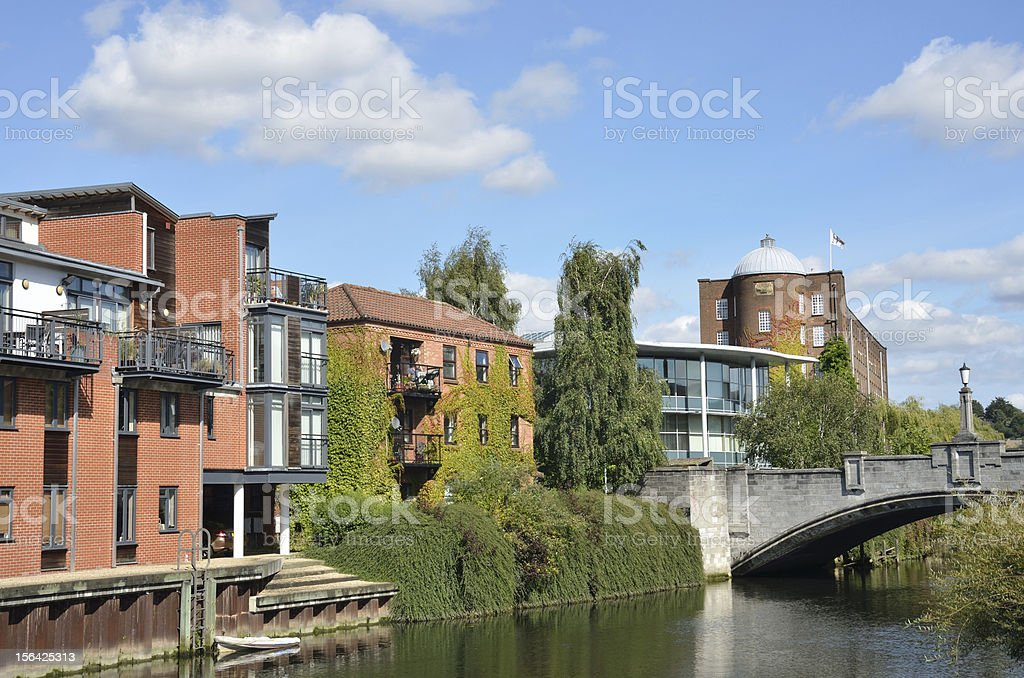 Modern Riverside buildings royalty-free stock photo