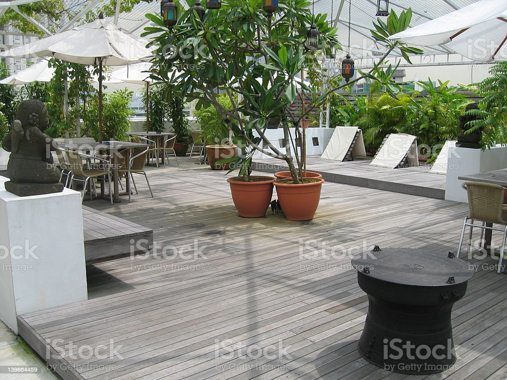 Modern roof garden in Singapore royalty-free stock photo