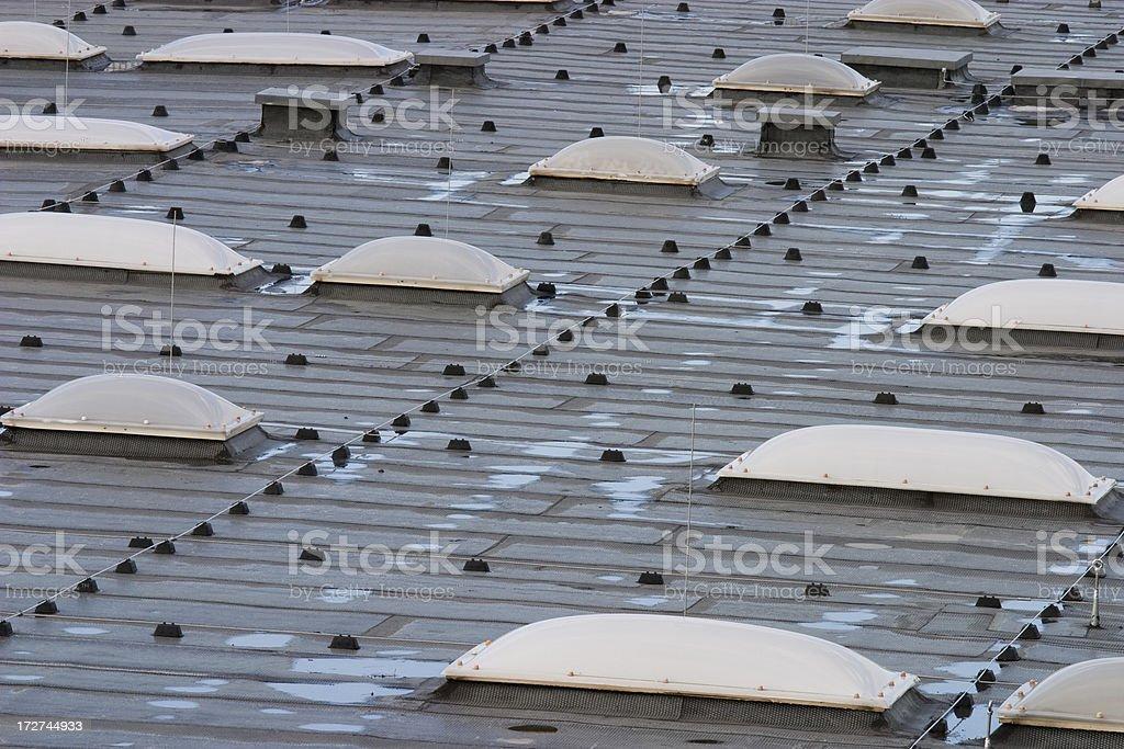 Modern roof shingles royalty-free stock photo