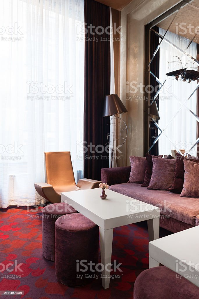 Modern room decor stock photo