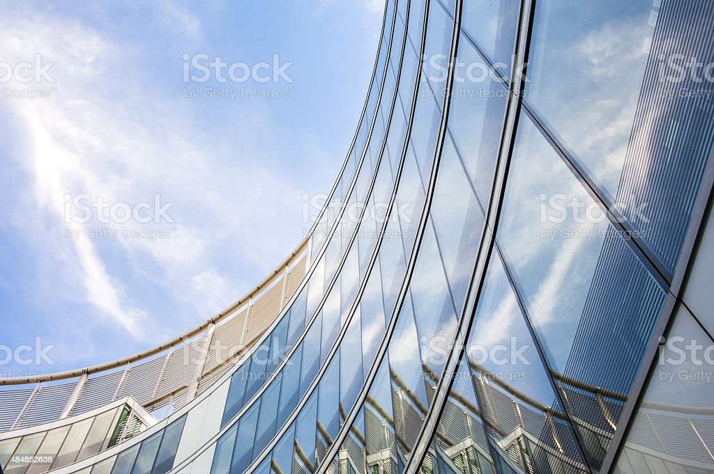 Modern round office building stock photo
