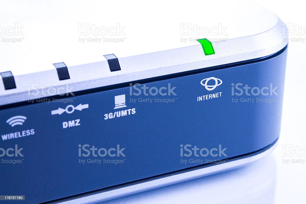 Modern router stock photo