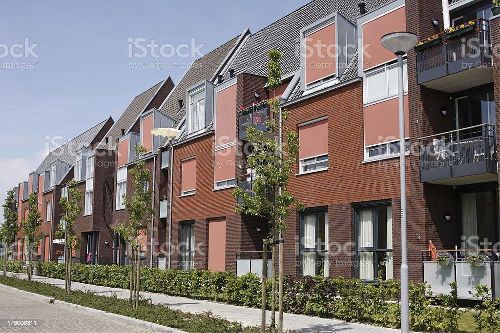 Modern row houses # 1 XL royalty-free stock photo