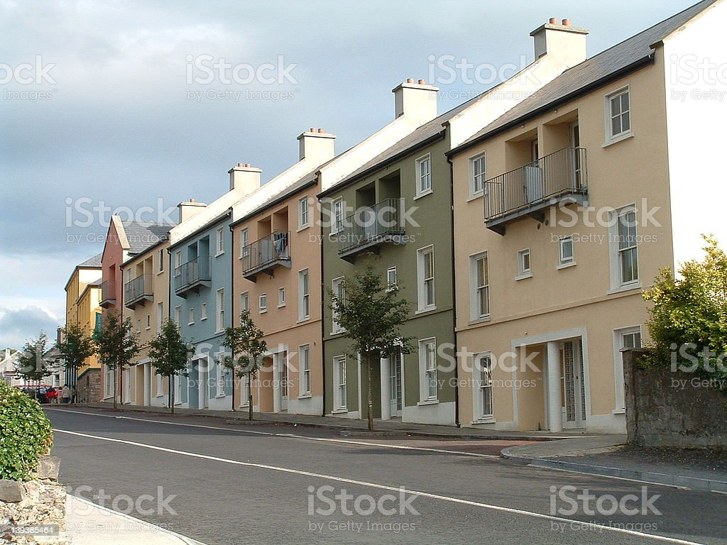 Modern Rowhouses in Ireland royalty-free stock photo