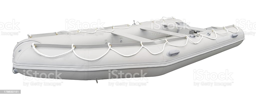 Modern rubber boat royalty-free stock photo