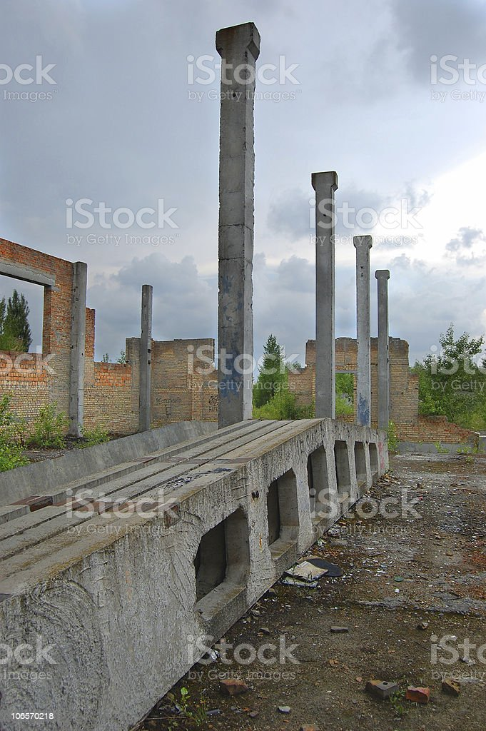 Modern ruins royalty-free stock photo