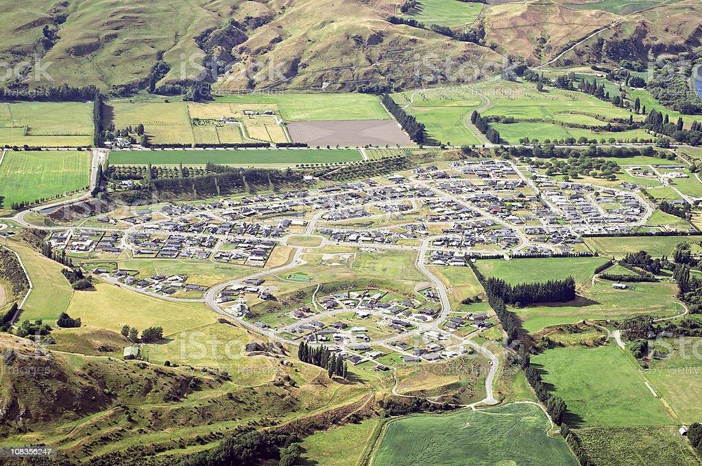 Modern Rural Housing Development stock photo