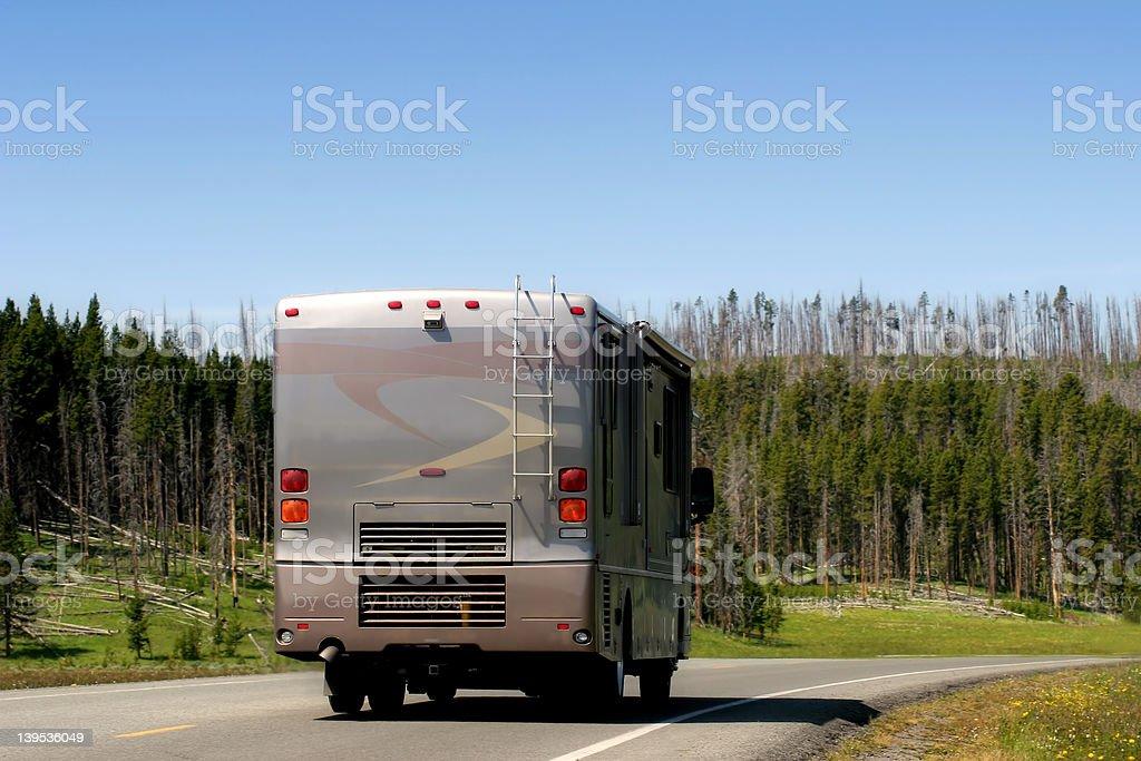 modern RV recreational vehicle royalty-free stock photo