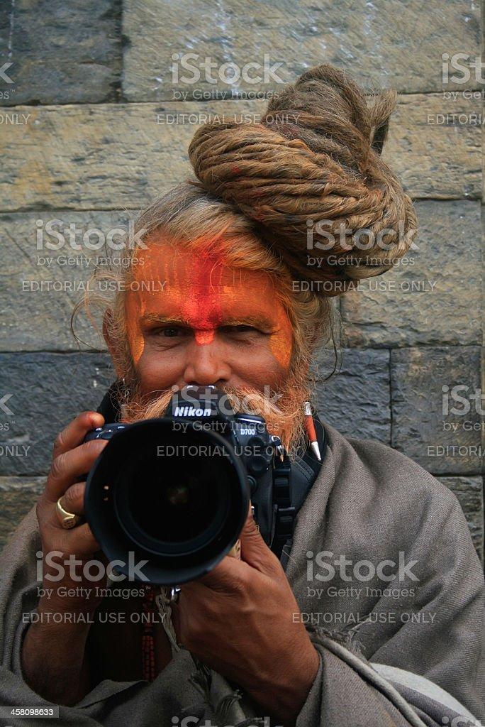 Modern Sadhu stock photo