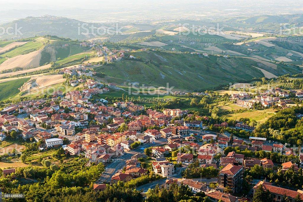Modern San Marino stock photo