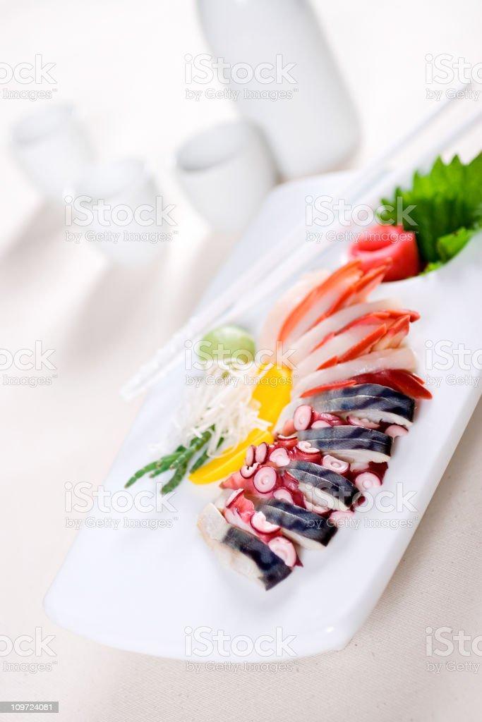 Modern Sashimi royalty-free stock photo
