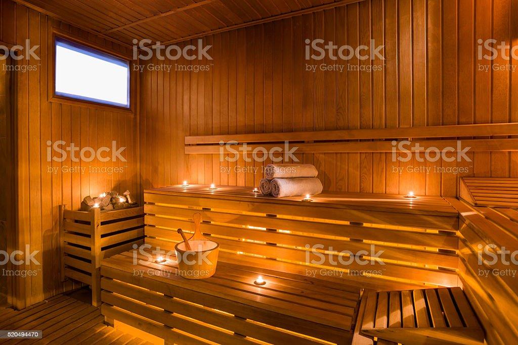 Modern Sauna stock photo