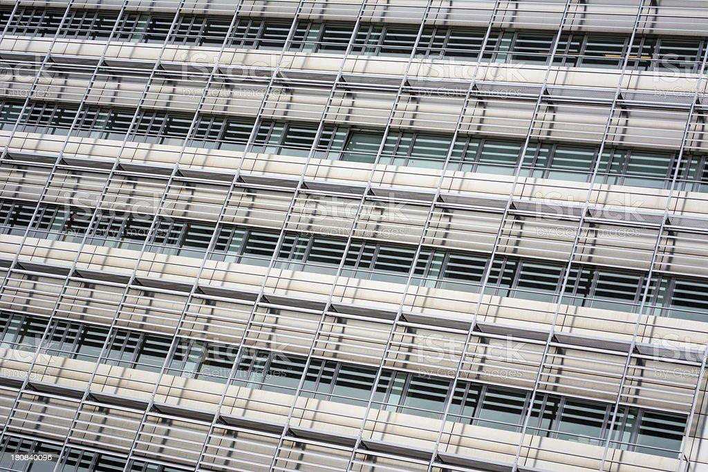Modern Scaffolding of officebuilding stock photo
