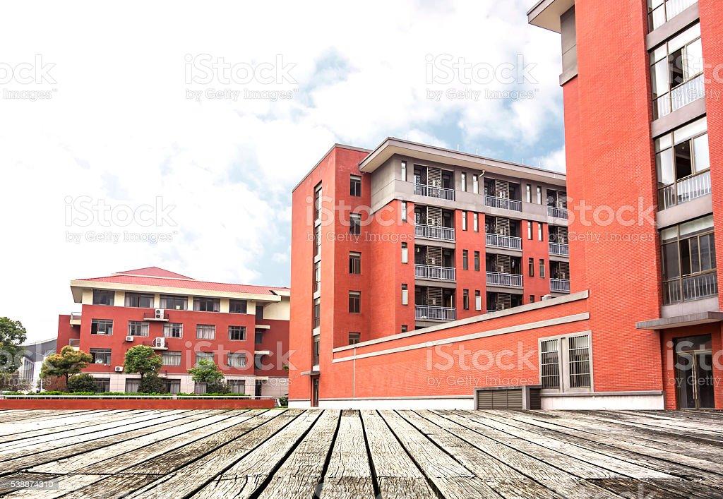 modern school building stock photo