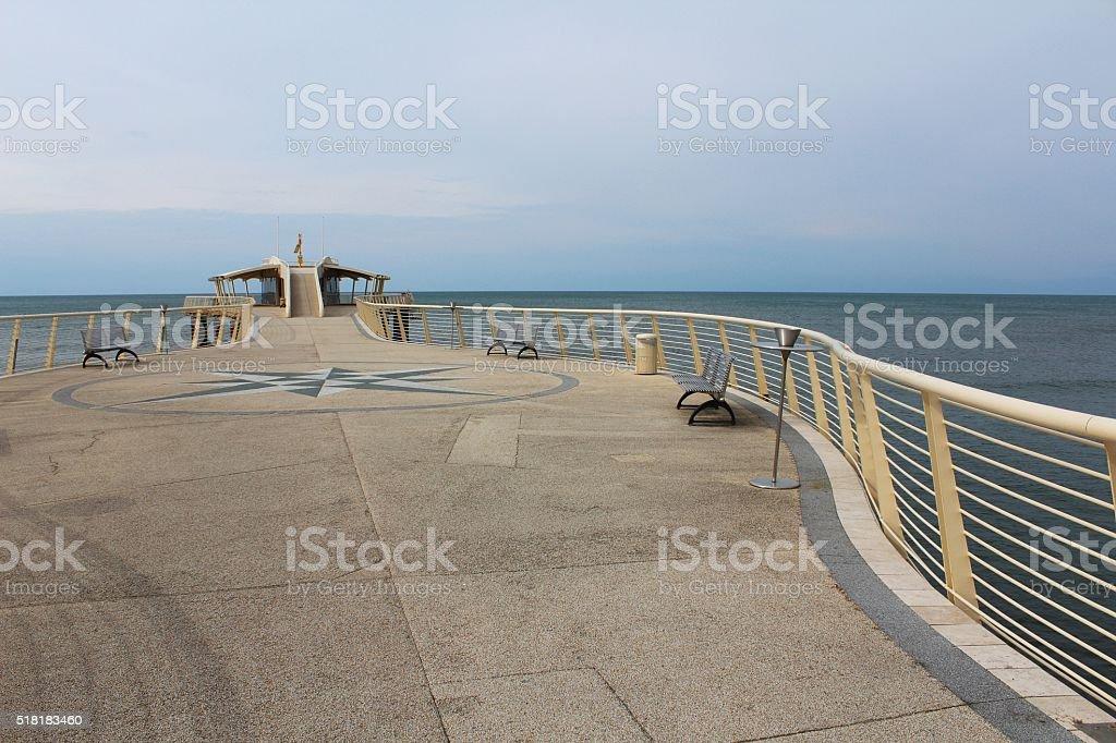 Modern sea pier stock photo