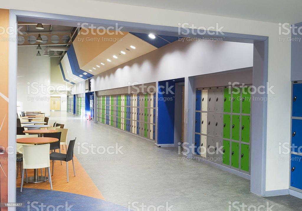 Modern secondary school royalty-free stock photo