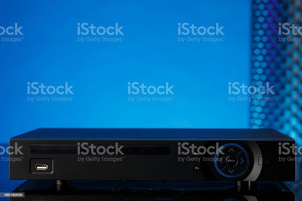 Modern security video recorder Video surveillance stock photo