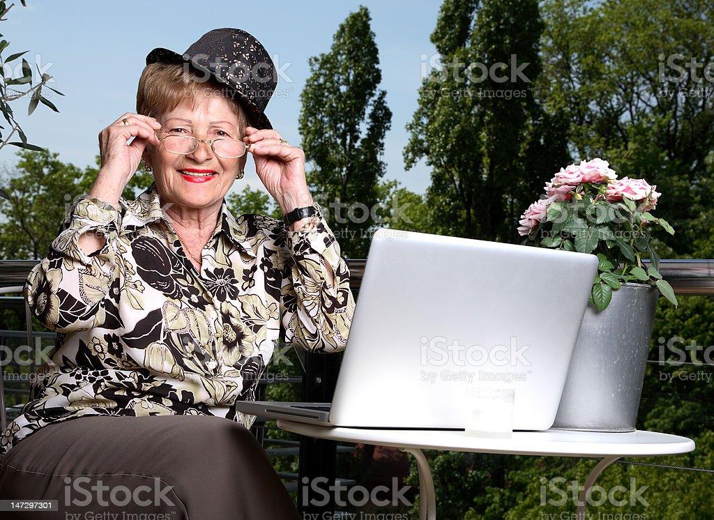 Modern senior stock photo