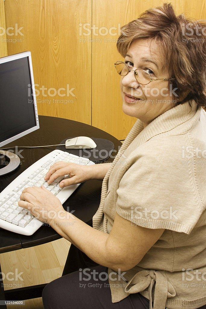 Modern Senior royalty-free stock photo
