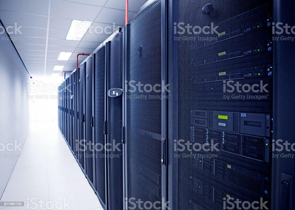 Modern server room view stock photo