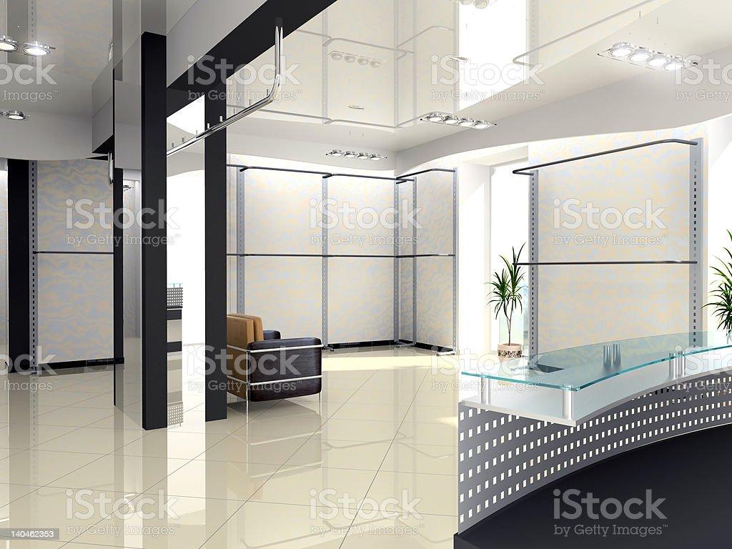 Modern Shop Interior royalty-free stock photo
