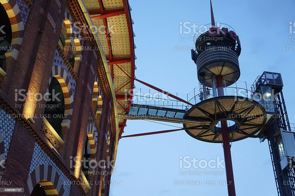 Modern shopping mall in Barcelona royalty-free stock photo