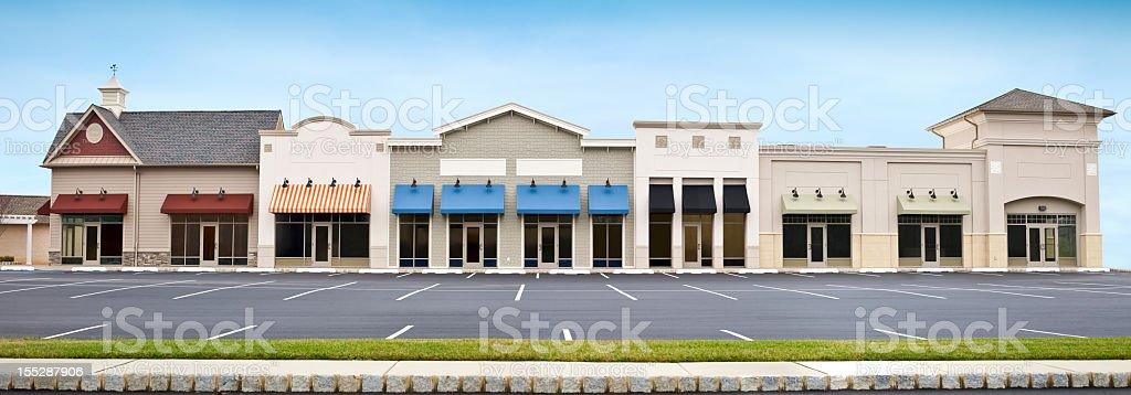 Empty Store Parking Lot