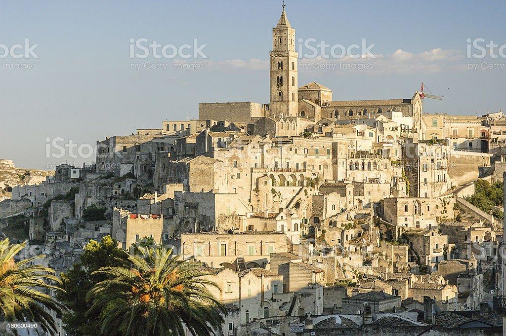 Modern Side of Matera City stock photo
