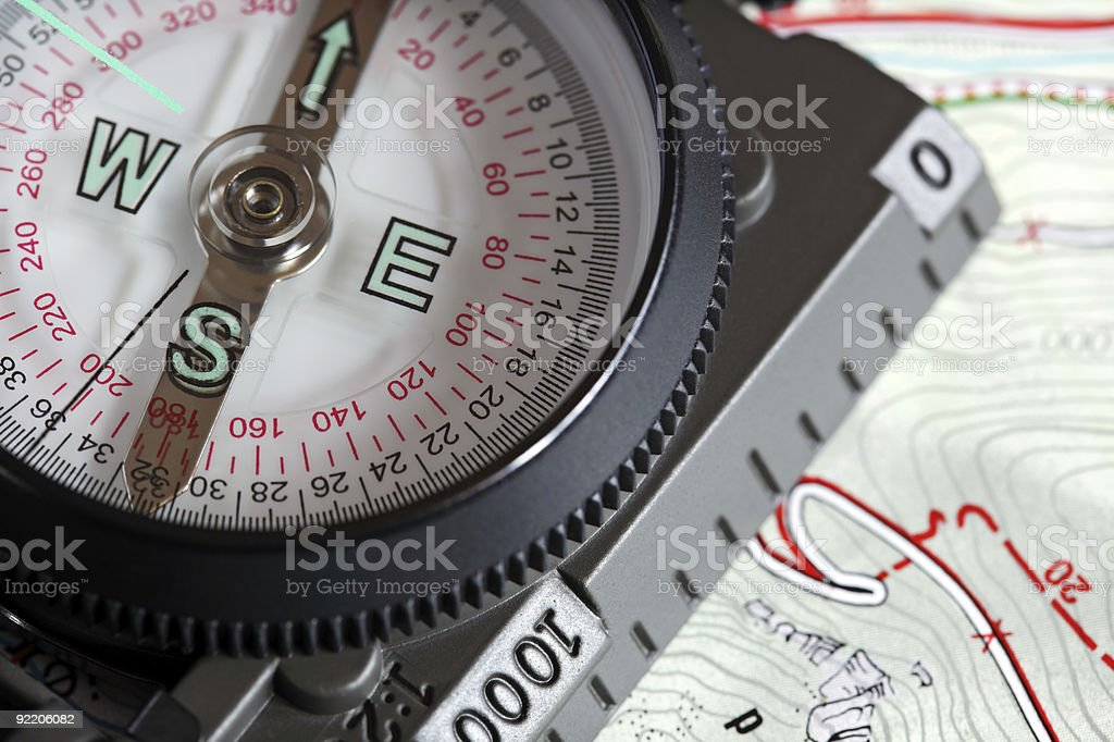Modern sighting compass royalty-free stock photo