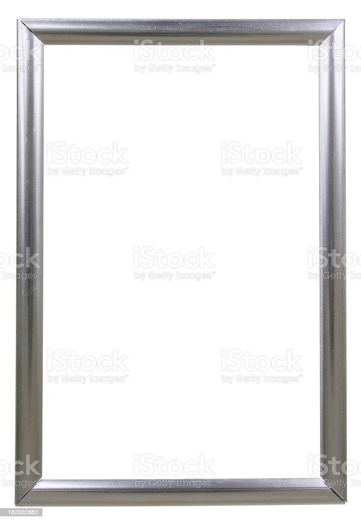 Modern Silver Photo Frame Isolated On White stock photo