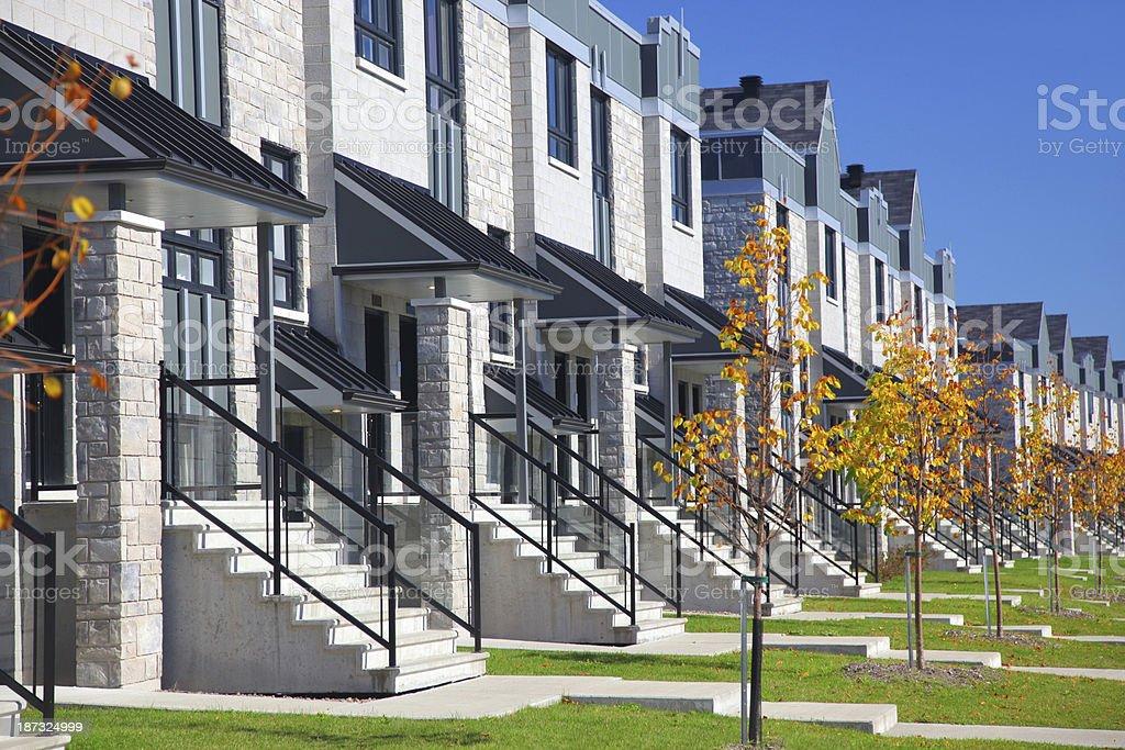 Modern Similar Urban Neighborhood stock photo