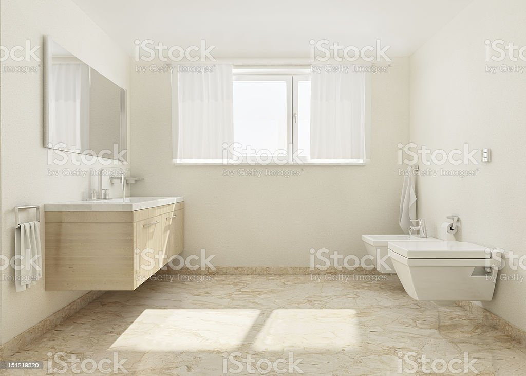 Modern simple bathroom HDRI royalty-free stock photo